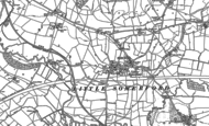 Old Map of Little Somerford, 1899