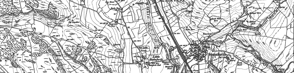 Old map of Bargh Ho in 1907