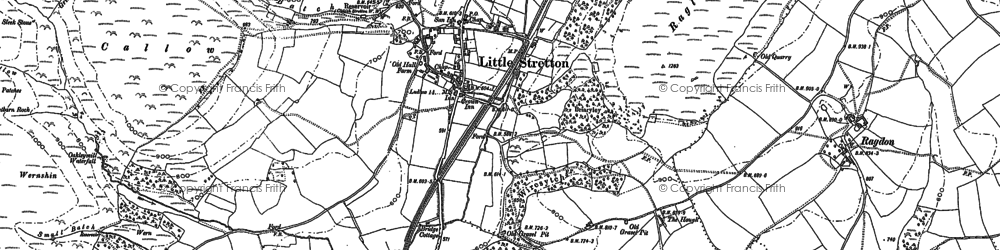 Old map of Ashes Hollow in 1882