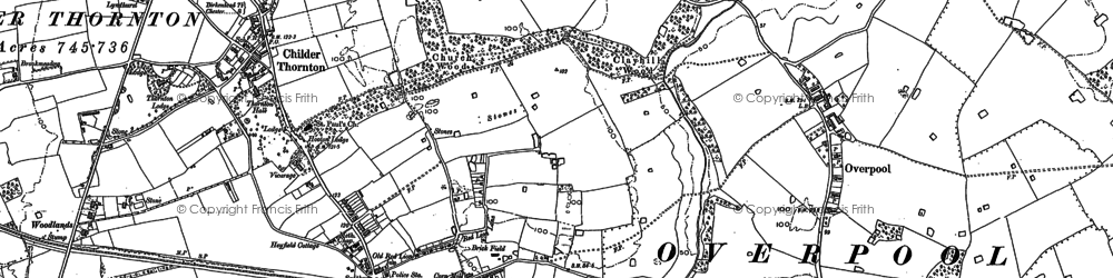 Old map of Little Sutton in 1897
