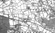 Old Map of Little Tarrington, 1886