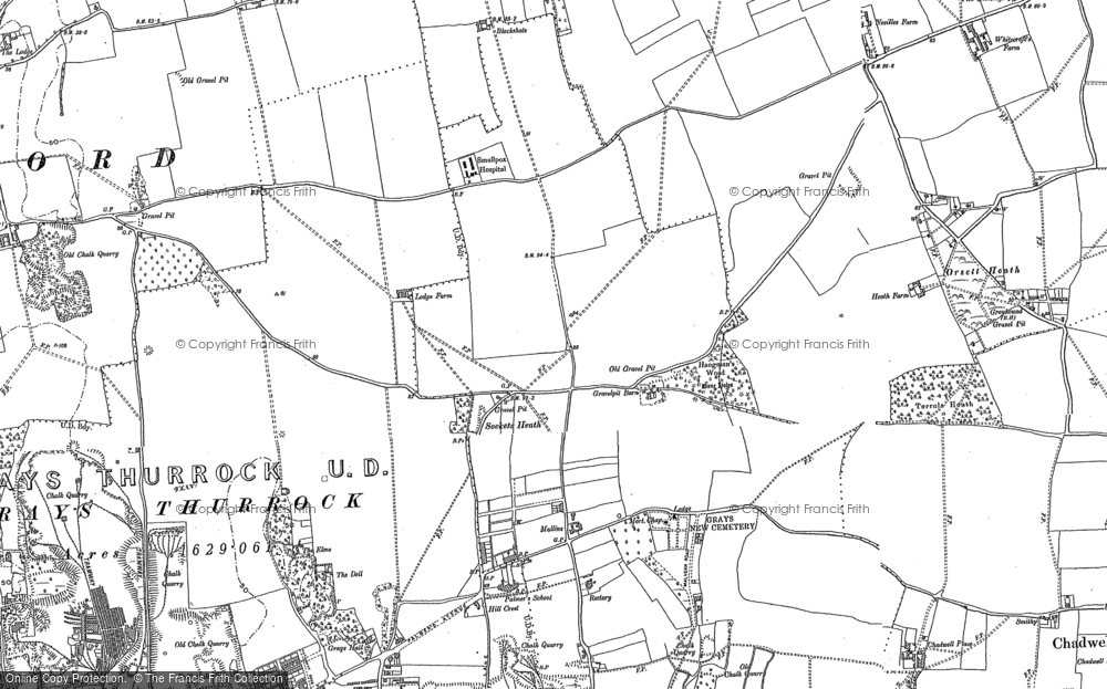 Old Map of Little Thurrock, 1895 in 1895