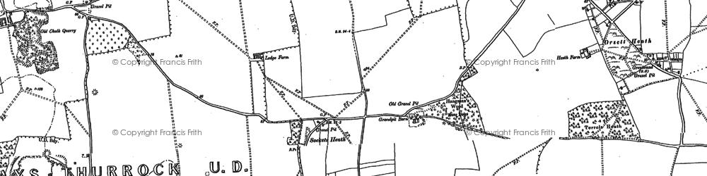 Old map of Socketts Heath in 1895