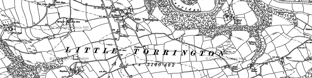 Old map of Woodlands in 1884
