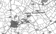 Old Map of Little Waldingfield, 1885