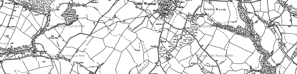 Old map of Little Wenlock in 1882