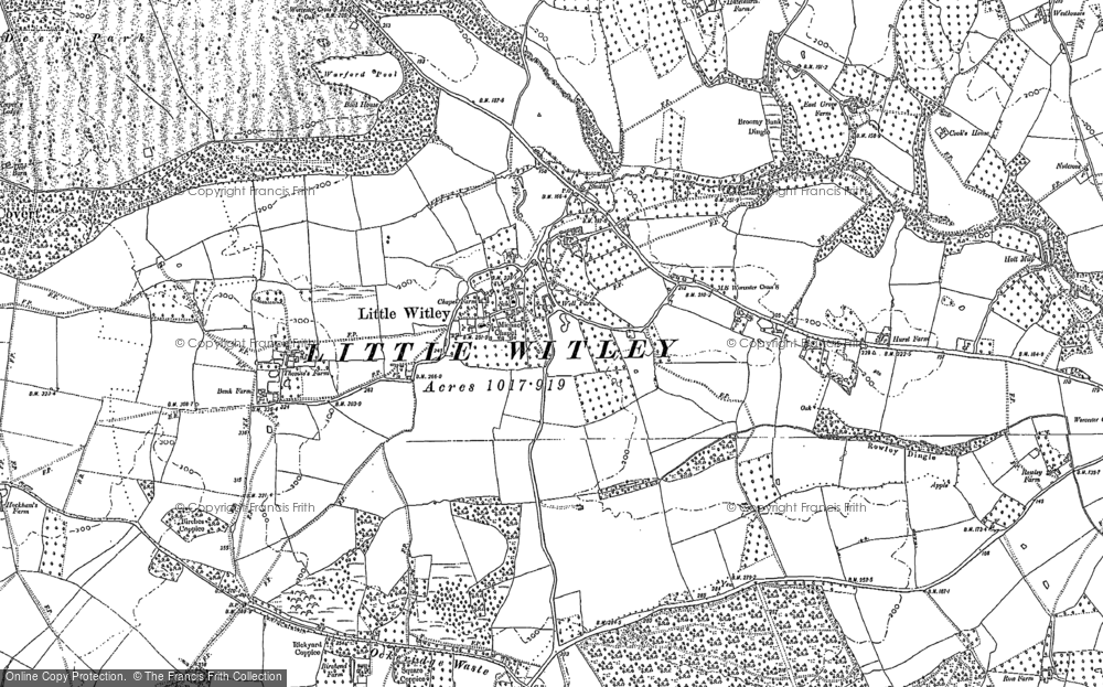Old Map of Little Witley, 1883 - 1884 in 1883