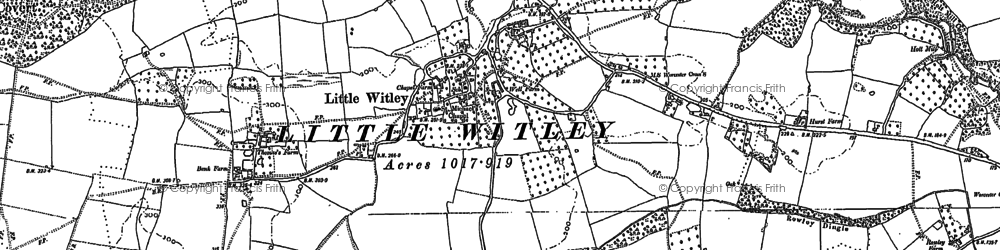 Old map of Witley Court in 1883