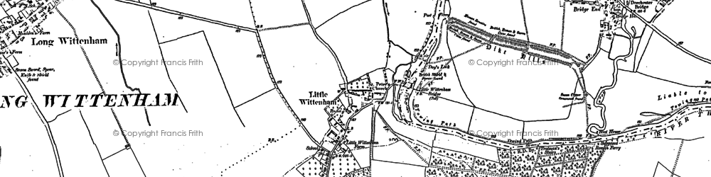 Old map of Wittenham Clumps in 1898