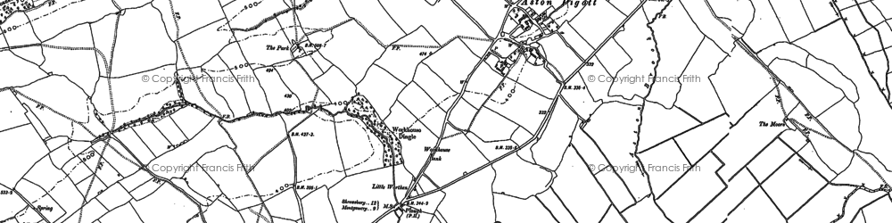 Old map of Aston Hill in 1881