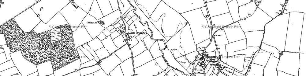 Old map of Wytheford Heath in 1880