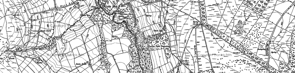 Old map of Whinstone Ridge in 1891