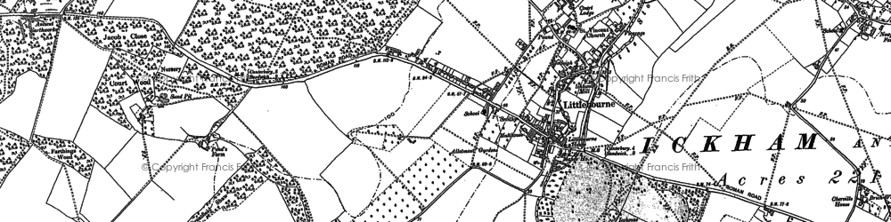 Old map of Littlebourne in 1896
