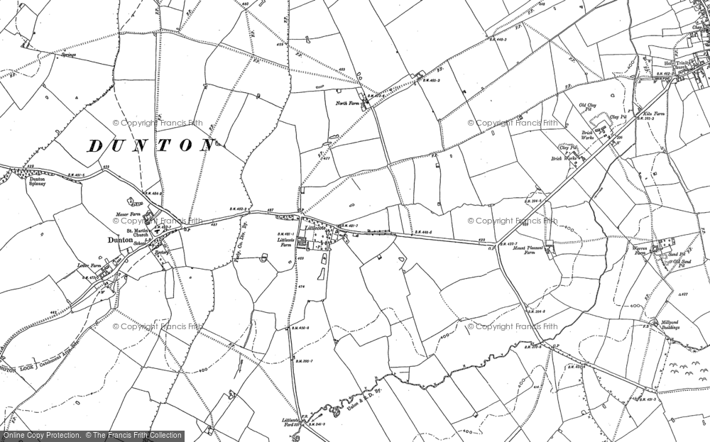 Old Map of Historic Map covering Lidcote Village in 1898