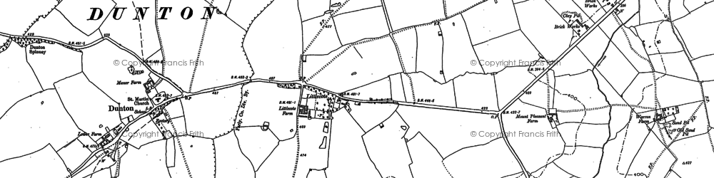 Old map of Lidcote Village in 1898