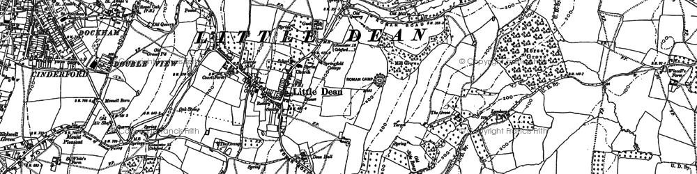 Old map of Littledean in 1879