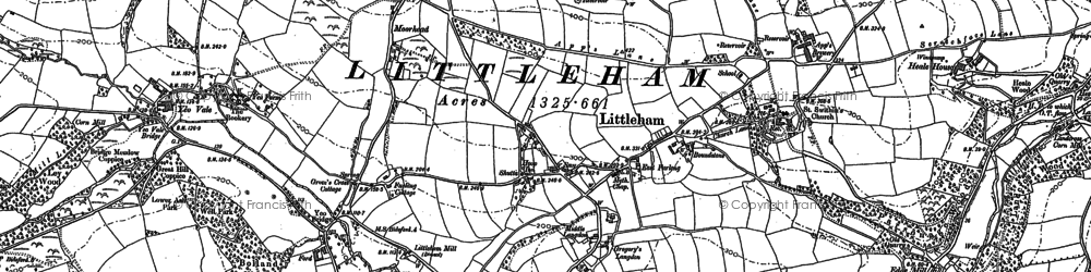 Old map of Littleham Court in 1886