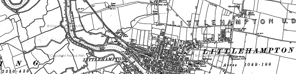Old map of Littlehampton in 1896