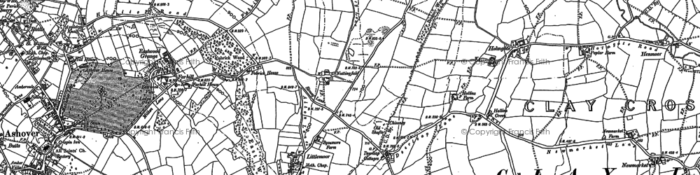 Old map of Littlemoor in 1879