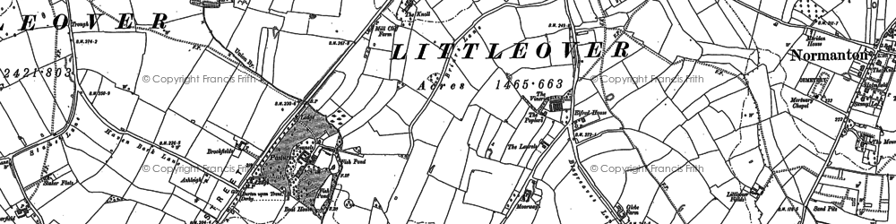 Old map of Littleover in 1882
