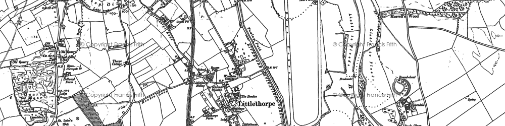 Old map of Aismunderby Village in 1890