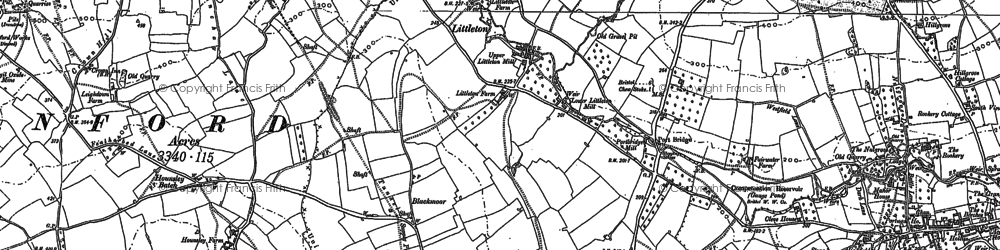 Old map of Blackmoor in 1883