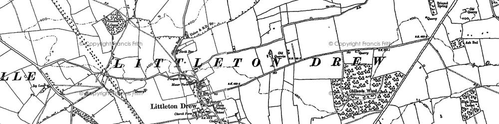 Old map of Littleton Drew in 1899