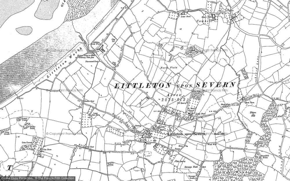 Old Map of Historic Map covering Titters Hill in 1880