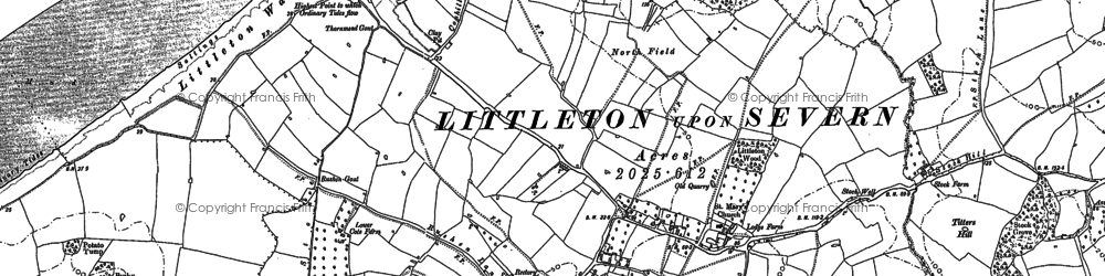 Old map of Titters Hill in 1880