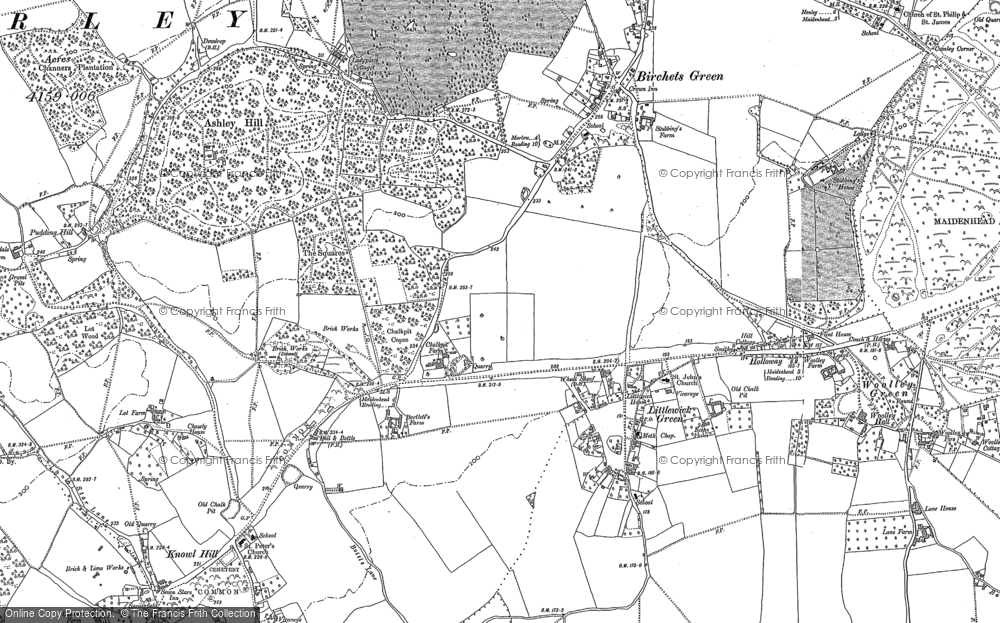 Old Map of Historic Map covering Altmore in 1910