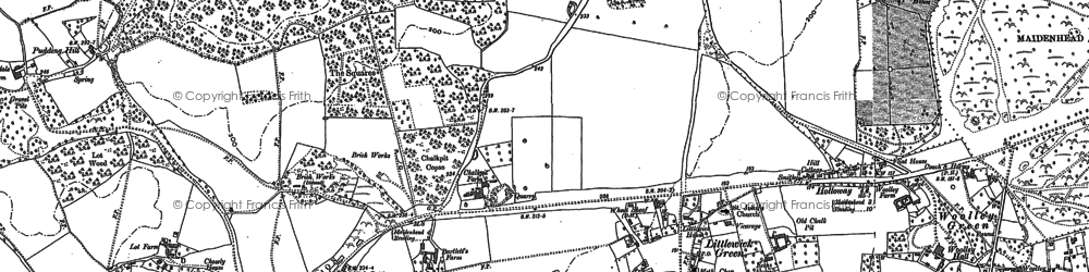Old map of Altmore in 1910