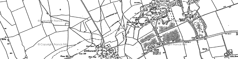 Old map of Barcote Manor in 1910