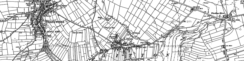 Old map of Litton in 1879