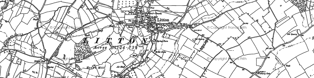 Old map of Litton in 1884