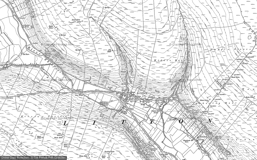 Old Map of Historic Map covering Ackerley Moor in 1907
