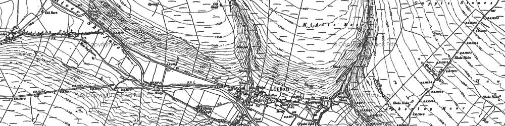 Old map of Ackerley Moor in 1907