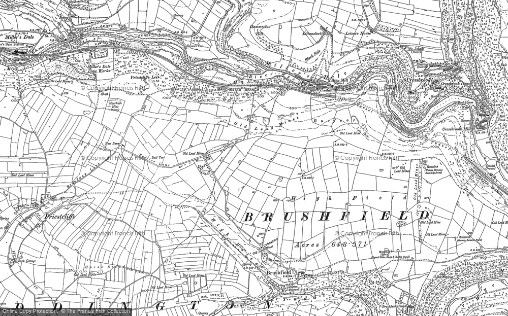Map of Litton Mill, 1879 - 1897