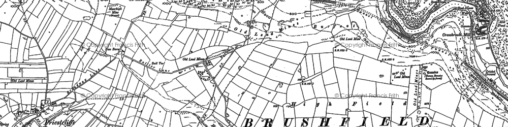 Old map of Litton Mill in 1879