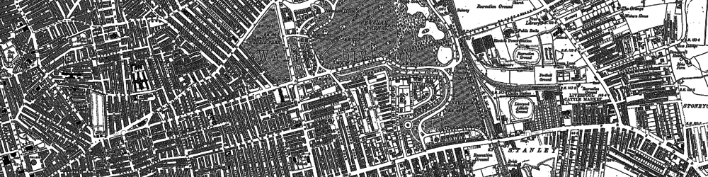Old map of Liverpool in 1906