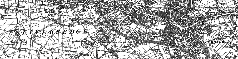 Old map of Westfield in 1892