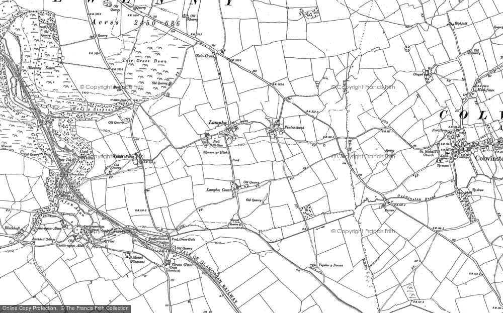 Old Map of Llampha, 1897 - 1914 in 1897