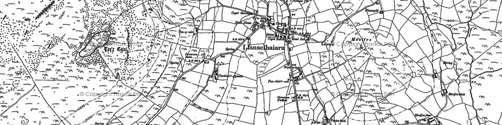 Old map of Trefor in 1888