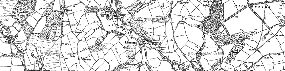 Old map of Bachell Brook in 1888