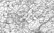Old Map of Llanarmon, 1888