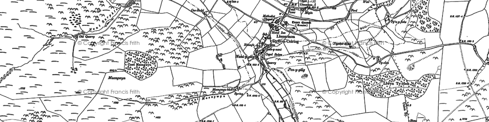 Old map of Ael-y-coryn in 1910