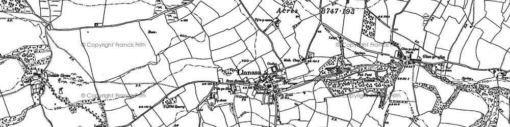 Old map of Llanasa in 1910