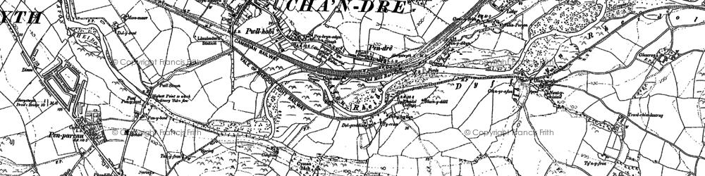 Old map of Llanbadarn Fawr in 1904