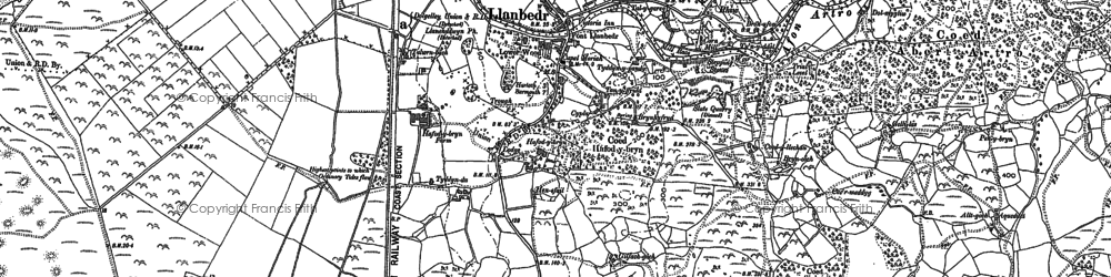 Old map of Llanbedr in 1887