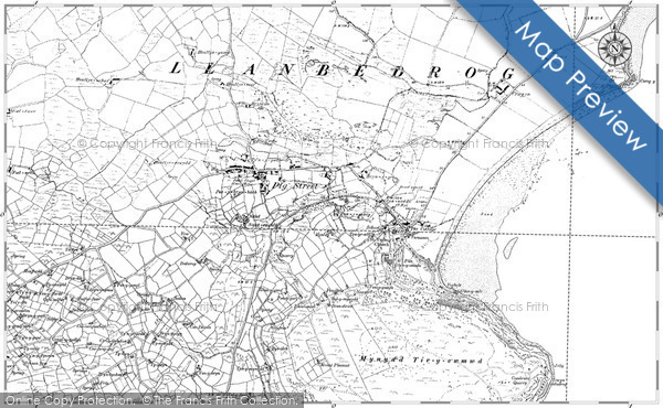 Old Map of Historic Map covering Bachellyn in 1888
