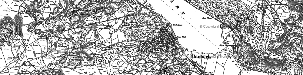 Old map of Llanberis in 1888